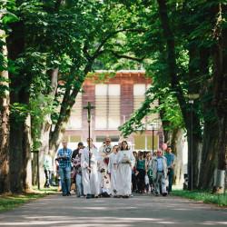 Prozession zur Kirche